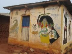 Mami Wata peinte sur une maison du Bénin, site de partage de photos d'une certaine Laurence.JPG