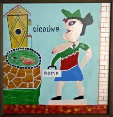 Bepi Donal, peinture, la Cicolina (sic), ph B.Montpied, 2008.jpg