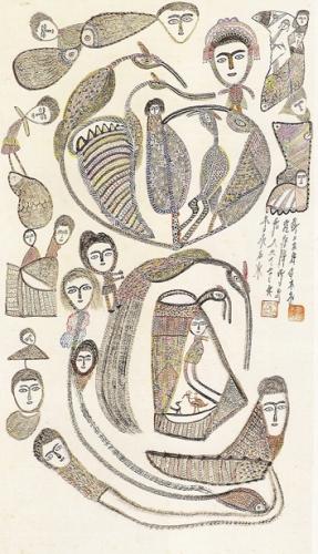 Hung-Tung, tire inconnu, 122x69cm, ph Lin Chung-Hsing, mus. d'art moderne de Taipei.jpg