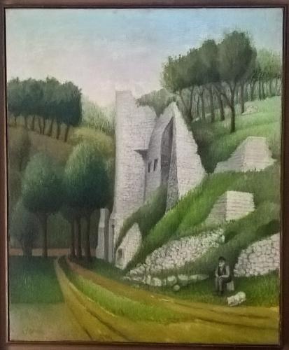 Abram Topor, paysage, coll Guillaume Z..jpg