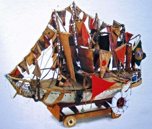 Bispo de Rosario,une maquette de bateau, extrait du site web de l'Aracine.jpg
