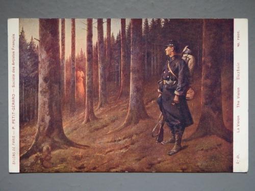peintures anonymes,art et guerre de 14-18,art populaire militaire,art visionnaire,foire à la brocante d'aillant-sur-tholon,hallucination,alsacienne