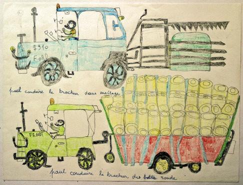 Thierry Chanaud,dessin aux crayons de couleurs, musée Les Amoureux d'Angélique, ph B.Montpied, 2008.jpg