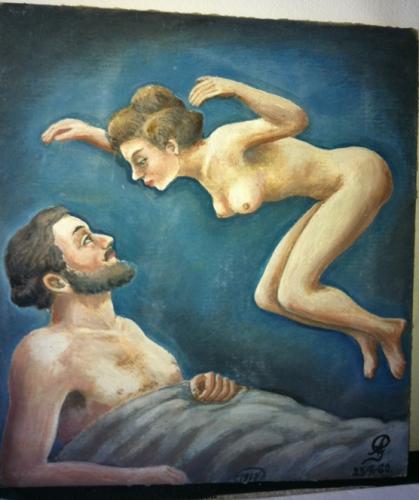 armand goupil,art de brocante,art naïf,figuration populaire insolite,art immédiat,art populaire militaire