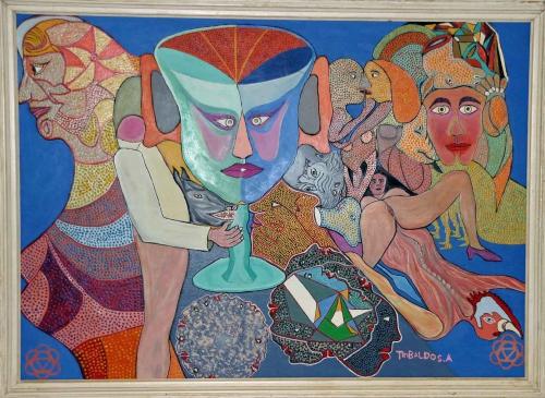 angel tribaldos,surréalisme naïf,art naïf insolite,art naïf visionnaire