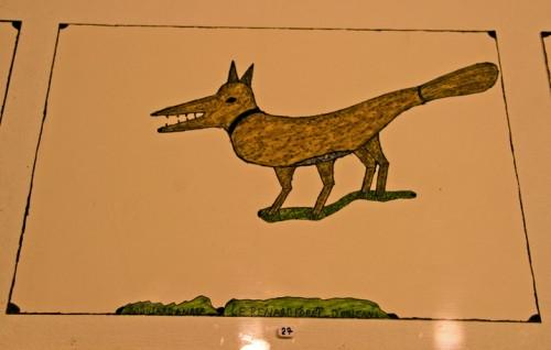 André Robillard dessin aux feutres, expo musée de la création franche, avril 2009, ph.B.Montpied.jpg