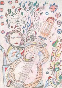Martha Grünenwaldt, dessin aux crayons de couleur, site d'Art en Marge.jpg