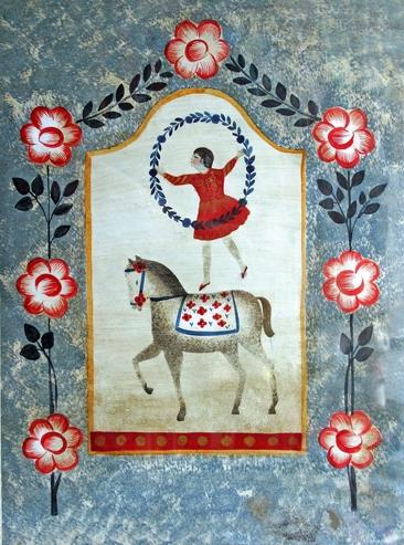 jacqueline humbert,biblothèque jacques lacarrière,fixés sous verre,art naïf,art populaire contemporain