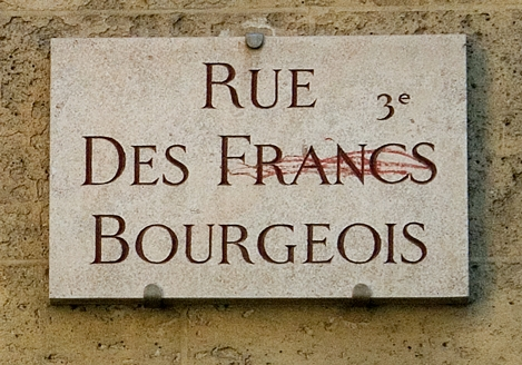 Plaque rue des Francs-Bourgeois, photo Bruno Montpied, 2010.jpg