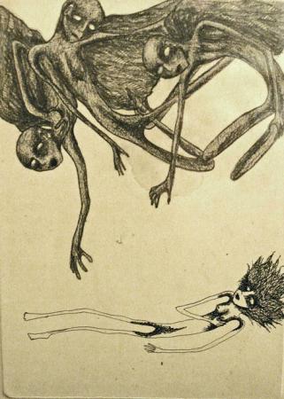 Ruzena, dessin au crayon noir sur papier sans titre, datant à peu près de 2001, 25 x 31 cm, coll.privée, photo Bruno Montpied.jpg