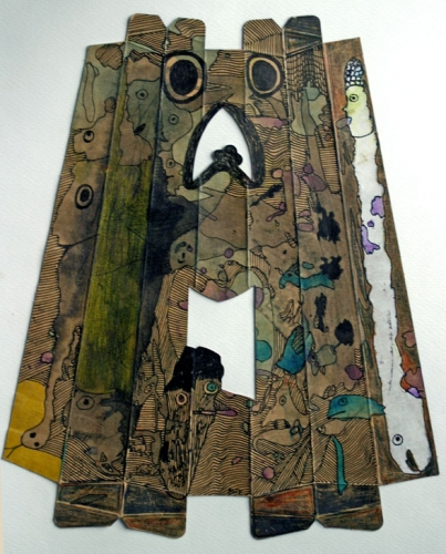 Pierre Albasser, dessin sur carton d'emballage de saucisson.jpg