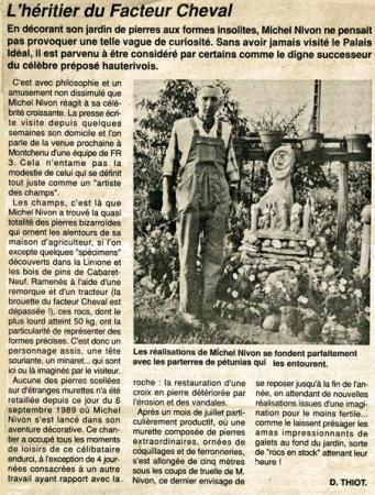 Article de D.Thiot paru dans le journal