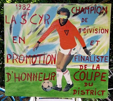 Anonyme,Panneau d'hommage à une équipe de football amateur,1982Recto.jpg