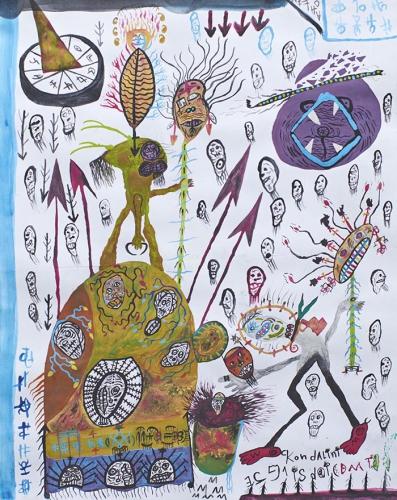 solange knopf,museum im lagerhaus,galerie isola,patrick lofredi,ernst kolb,collection mina et joseph john,alfred leuzinger,ernst kummer,art brut et naïf suisse,lubos plny,galerie le syeux fertiles,eugen gabritschevsky,andré masson,ligabue,rovesti,ghizzardi,art naïf visionnaire,soutter,victor hugo