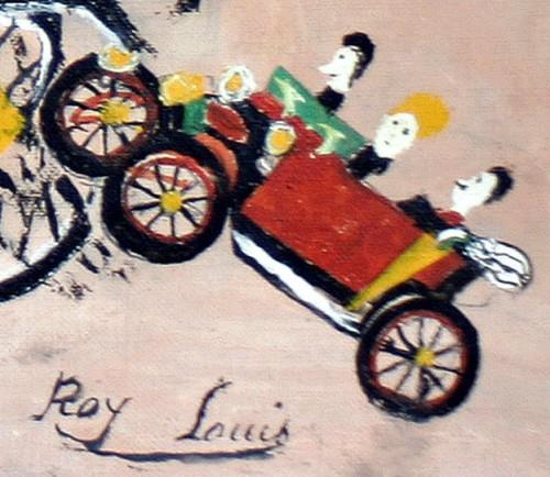 Louis Roy, détail d'un tableau sans titre (l'enterrement accidenté), sans date (années 60-70),coll privée, Paris, ph.B.Montpied.jpg