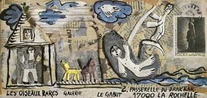Carton expo Les Oiseaux Rares, La Rochelle, 1991.jpg
