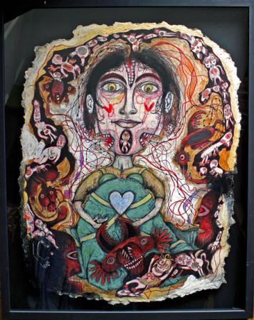 Joël Lorand, Histoire de coeur, technique mixte sur carton, 50 x 65 cm,2003, coll.privée, Photo Bruno Montpied.jpg