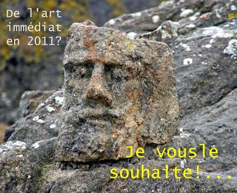 Carte de voeux 2011, Adofe-Julien Fouré, Rochers Sculptés de Rothéneuf, ph. Bruno Montpied, 2010.jpg