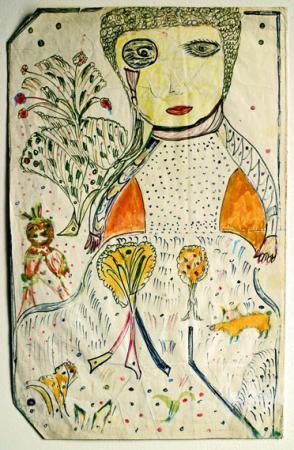Martha Grünenwaldt, dessin au feutre sans titre, sans date (vers 1985), coll.privée, Paris, photo Bruno Montpied.jpg