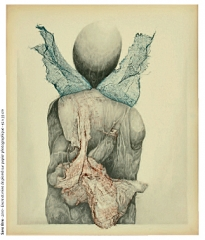 Gilles Manero, sans tire, encre et mine de plomb, exposition 2010-2011, Bègles, musée de la création franche.jpg