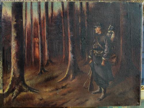 Le Poilu et la femme fantôme, tableau à Aillant sur Tholon (2).jpg