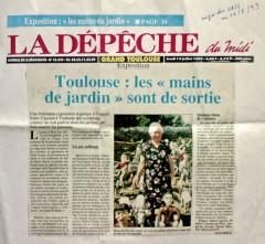 Article de Sylvie Roux dans La Dépèche du Midi, 1999.jpg