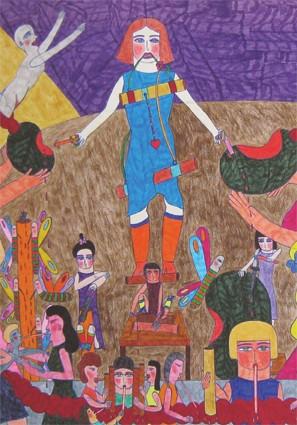 Marilena Pelosi, détail d'un dessin, Galerie Objet Trouvé, fév 09.jpg