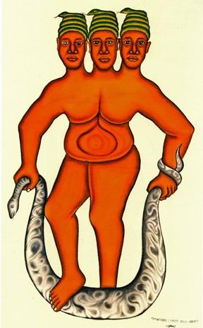 Cyprien Tokoudagba,Mami Wata, Extrait du catalogue de la Fondation Zinsou, 2006.jpg