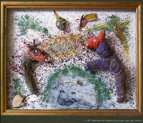 pierre caran,thérèse joly,emmanuel boussuge,art clandestin,art d'autodidactes cultivés,art singulier,art récup',valère novarina,michel butor