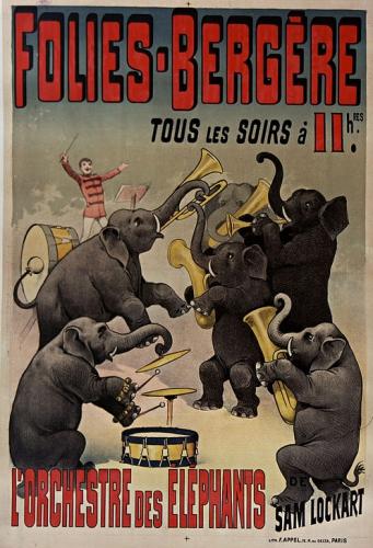 Affiche l'orchestre des éléphants, F Appel 1890.jpg