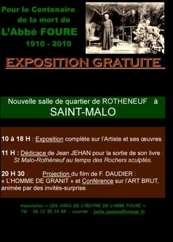 affiche exposition  sur l'abbé Fouré et journée du 18 décembre 2010 à la nouvelle salle de quartier de Rothéneuf.jpg