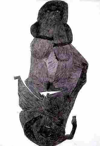 koochaki 1, couple, 100x70 cm, crayon sur p, Hamer.jpg