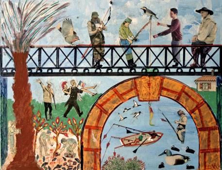 Bepi Donal, peinture et collage, sans titre, ph.B.Montpied, 2008.jpg