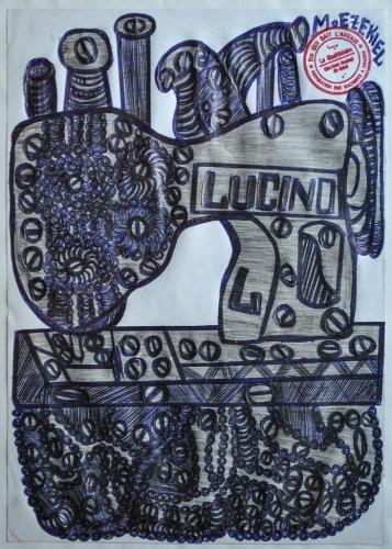 Ezéchiel Messou, ss titre (machine à coudre, Lucind), stylo bic sur pap, 29,7x21cm, vers 2019 (2).jpg