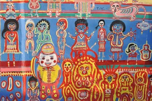 environnements spontanés taïwanais,habitants-paysagistes taïwanais,art brut taïwanais,taïwan et art populaire,art des aborigènes de taïwan,muralisme brut