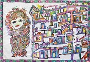 Martha Grünenwaldt, carte d'invitaiton à son exposition par Oeil-Art, Paris 2010.jpg