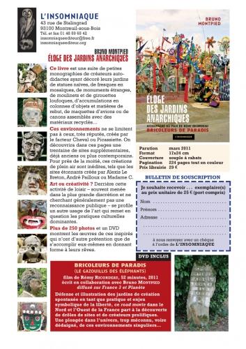 Avis de souscription pour L'Eloge des Jardins Anarchiques, Editions de l'Insomniaque.jpg