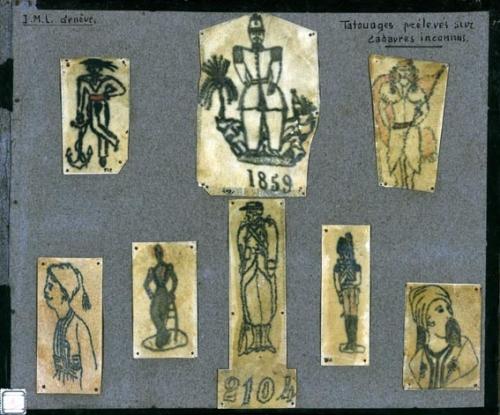 Tatouage sur peaux cadavres Coll AB, fin 19e, ph Arnaud Conne.jpg