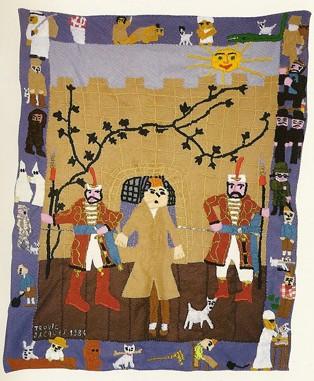 Jacques Trovic Hommage à Tintin, vers 1988.jpg