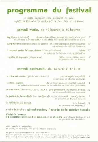 12e Rencontres autour de l'Art singulier, programme, mai 2009.jpg