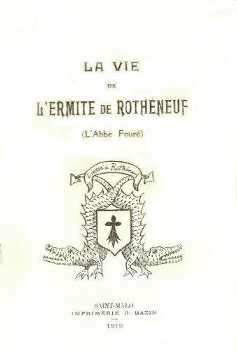 Couverture de la brochure biographique sur l'Ermite de Rothéneuf par Noguette, 1919.jpg