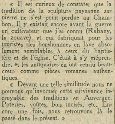 Maurice Busset cité par H.Pourrat en réponse à Gandilhon Gens d'Armes , l'auv de Paris 1934.JPG