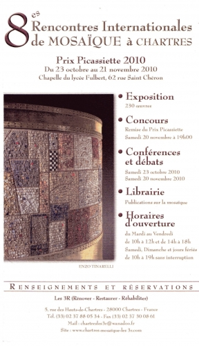 invitation 8èmes rencontres autour de la mosaïque, à Chartres .jpg