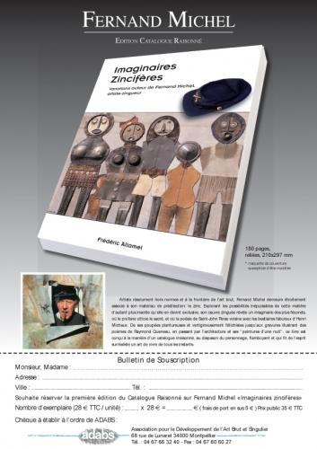 Fernand Michel, couverture du livre de Frédéric Allamel, bulletin de souscription.jpg