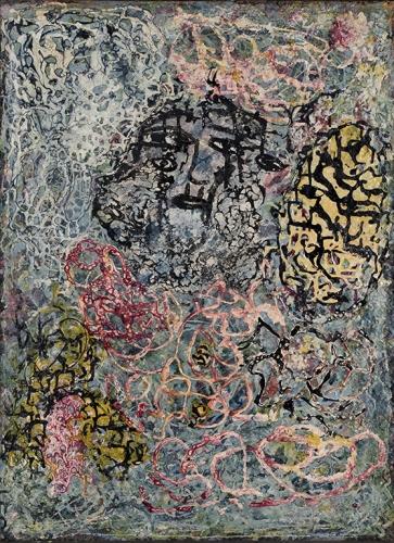 J Sobel ss titre, huille sur cannage sur panneau, 76,5 x 56,3 cm .jpg