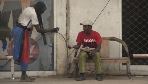 P Diop et Modboye (à dr) Film de Ugo Simon, 2021 sur Pape Diop.JPG