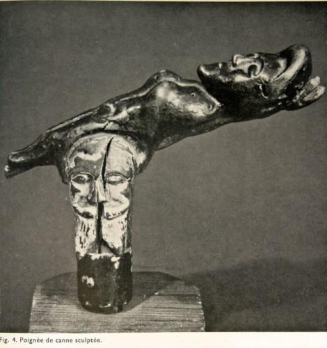 Canne d'art brut, Xavier Parguey, fasc. 5 de la Compagnie d'Art Brut, 1965.jpg