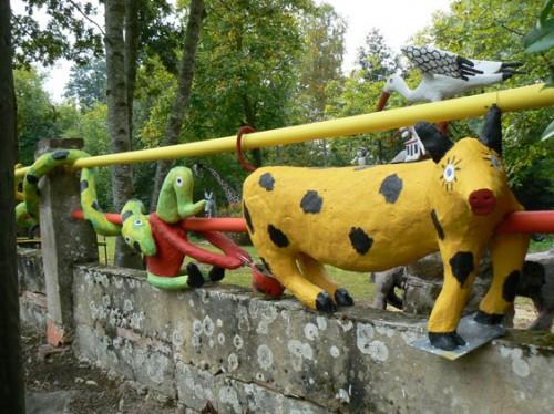 Fernand Châtelain,saynète du cochon qui fait du boudin, ph Rémy Ricordeau, 2008.jpg