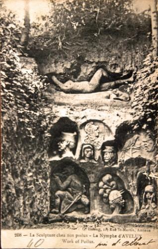 Carte postale 14-18,la nymphe d'Aveluy, coll.B.Montpied.jpg