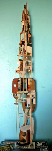 darnish,architecture,kurt schwitters,objets en bouteilles,collages,art singulier,assemblages